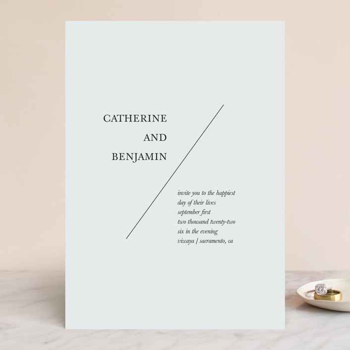 """Catherine"" - Wedding Invitations in Natural by Kayla Dawson."
