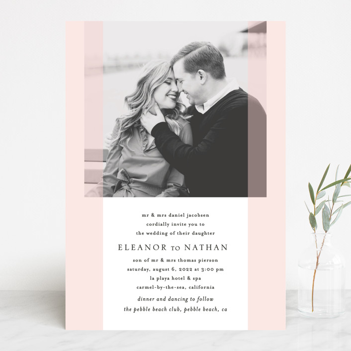 """Transparent"" - Wedding Invitations in Magnolia by Erin Deegan."