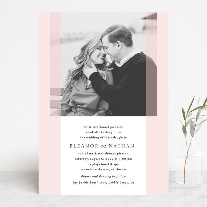 """Transparent"" - Wedding Invitations in Magnolia by Erin Deegan."
