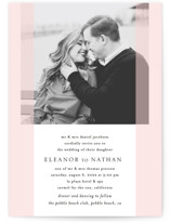 This is a pink wedding invitation by Erin Deegan called Transparent with standard printing on signature in standard.