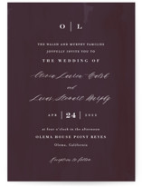 This is a purple wedding invitation by Carolyn MacLaren called Crush with standard printing on signature in standard.