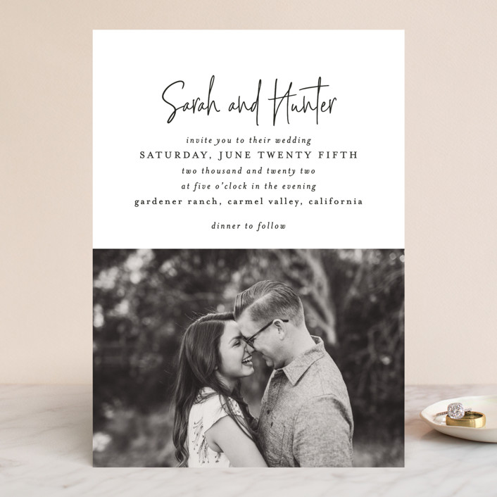 """""""Eloquent"""" - Wedding Invitations in Coal by Mansi Verma."""