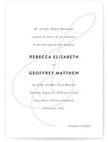 This is a pink wedding invitation by Kim Dietrich Elam called AND with standard printing on signature in standard.
