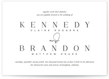 This is a black and white wedding invitation by Jessica Williams called The Space Between with standard printing on signature in standard.