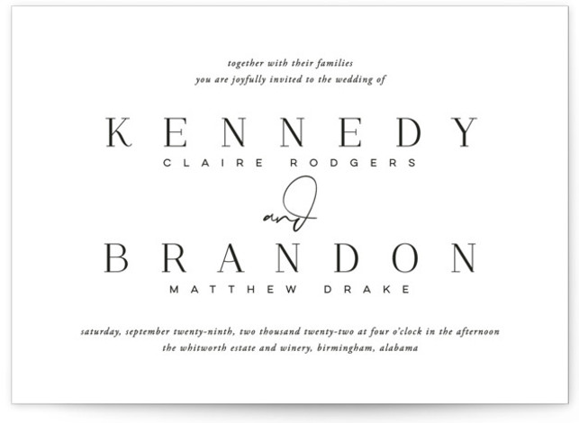 The Space Between Wedding Invitations