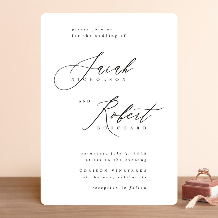 """Corison"" - Wedding Invitations in Classic by Kelly Schmidt."