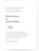 This is a white wedding invitation by Kelly Schmidt called Marlowe with standard printing on signature in standard.