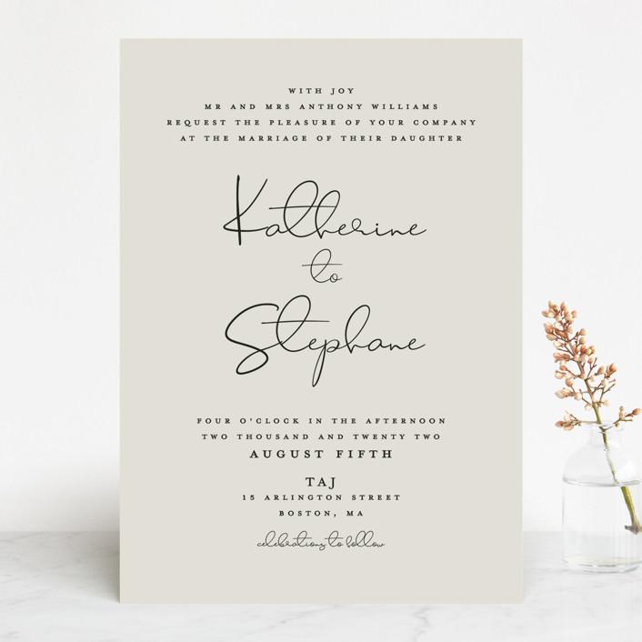 """""""sweet sweet elegance"""" - Wedding Invitations in Dutch Cream by frances."""