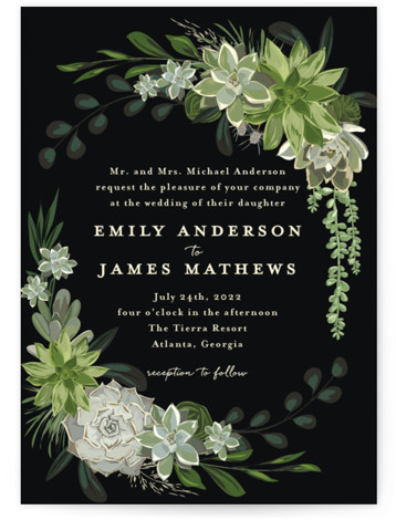 Agave & Greens Wedding Invitations