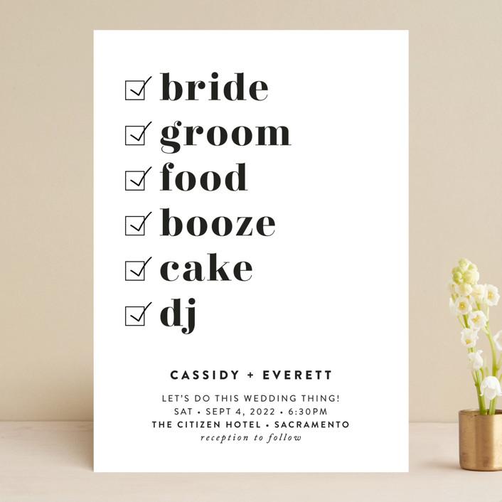 """Key Ingredients"" - Wedding Invitations in Cotton by Christie Garcia."