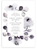 This is a purple wedding invitation by Petra Kern called Bella Mia with standard printing on signature in standard.