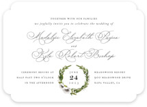 This is a green wedding invitation by Jennifer Postorino called Encircle with standard printing on signature in standard.