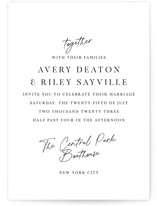This is a black and white wedding invitation by Jackie Mangiolino called Composure with standard printing on signature in standard.