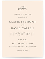 This is a pink wedding invitation by Sara Hicks Malone called Sketch with standard printing on signature in standard.