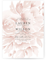This is a pink wedding invitation by Chris Griffith called Wedding Dream with standard printing on signature in standard.
