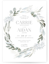 This is a green wedding invitation by Petra Kern called Amorino with standard printing on signature in standard.