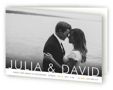 Minimalist Display Four-Panel Wedding Invitations
