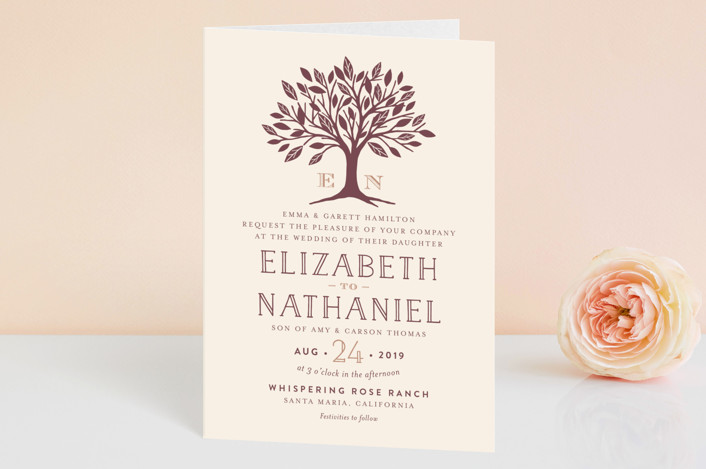 Enchanted Four Panel Wedding Invitations By Griffinbell Paper Co Minted