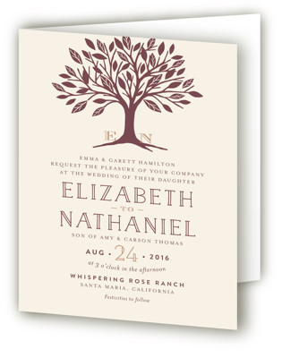 Enchanted Four-Panel Wedding Invitations