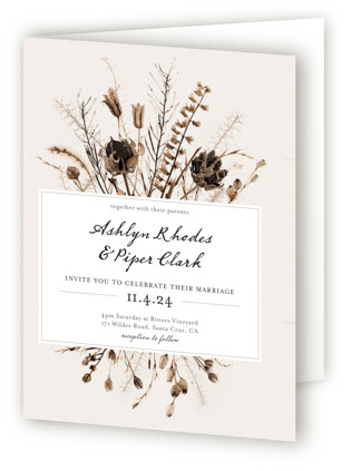 Gone To Seed Four-Panel Wedding Invitations