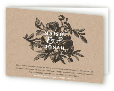 Love in Bloom Four-Panel Wedding Invitations
