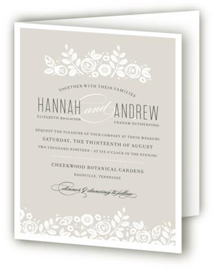 White Shadows Four-Panel Wedding Invitations