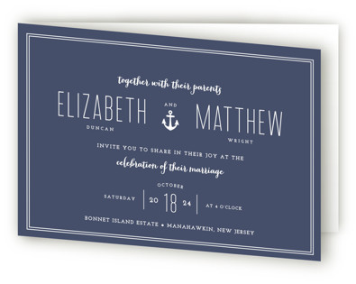 Down by the Sea Four-Panel Wedding Invitations