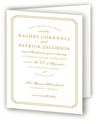 Luxe Border Four-Panel Wedding Invitations