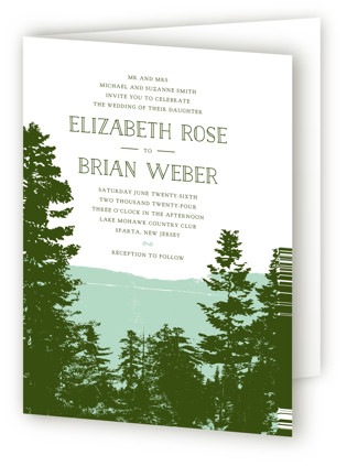 Mountain View Four-Panel Wedding Invitations