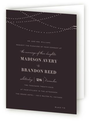 Lavish Four-Panel Wedding Invitations