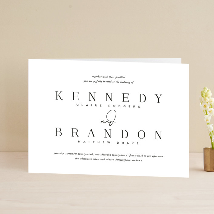 """""""The Space Between"""" - Four-panel Wedding Invitations in Sugar by Jessica Williams."""