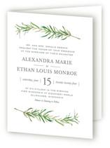Simple Sprigs Four-Panel Wedding Invitations
