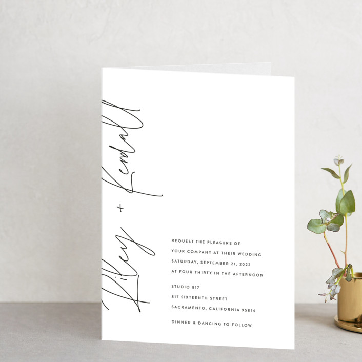 """""""printed"""" - Four-panel Wedding Invitations in Onyx by JoAnn Jinks."""