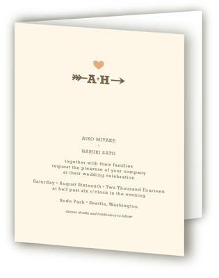 Love Struck Four-Panel Wedding Invitations