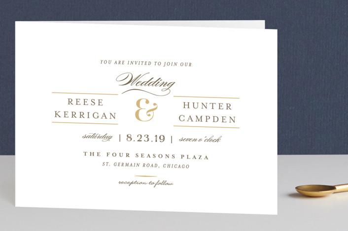"""Valencay"" - Elegant, Classical Four-panel Wedding Invitations in Silk by chocomocacino."