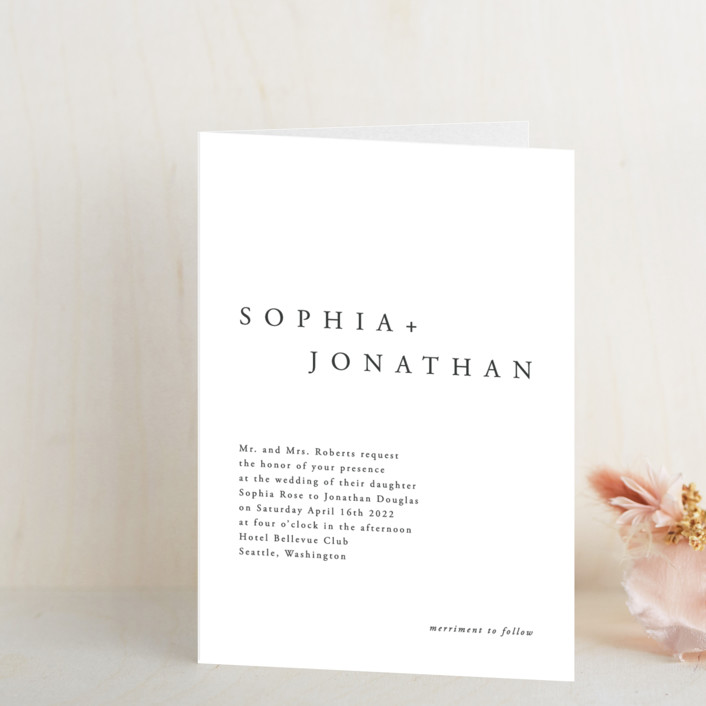 """""""The Minimalist"""" - Four-panel Wedding Invitations in Air by lulu and isabelle."""