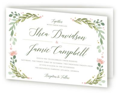 Garden Glamour Four-Panel Wedding Invitations