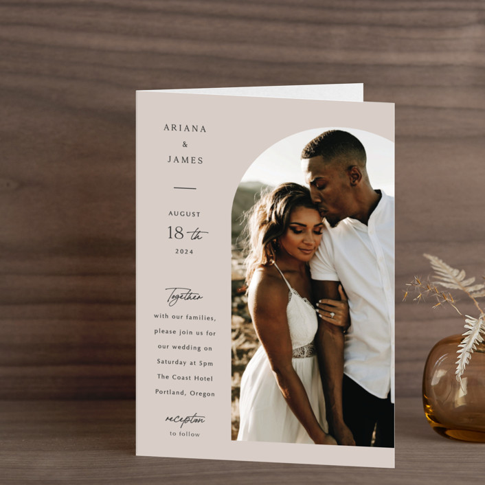 """""""the arch"""" - Four-panel Wedding Invitations in Stone by Elly."""