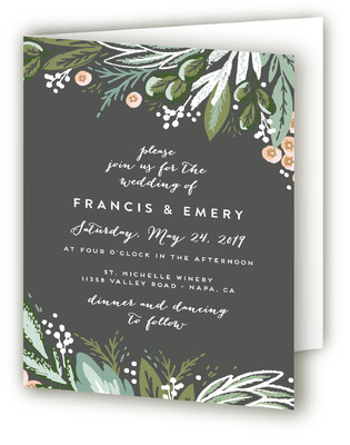 Meadow Breeze Four-Panel Wedding Invitations