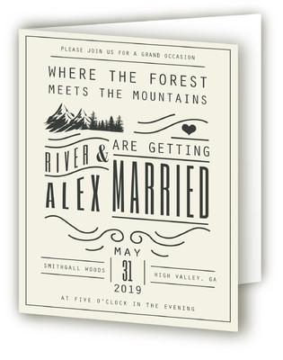 Mountain Affair Four-Panel Wedding Invitations
