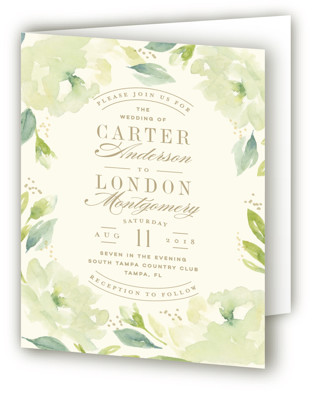 Southern Garden Four-Panel Wedding Invitations