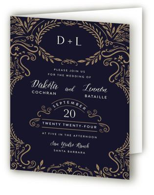 Wedding Enchantment Four-Panel Wedding Invitations