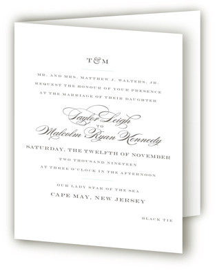 Charming Go Lightly Four-Panel Wedding Invitations