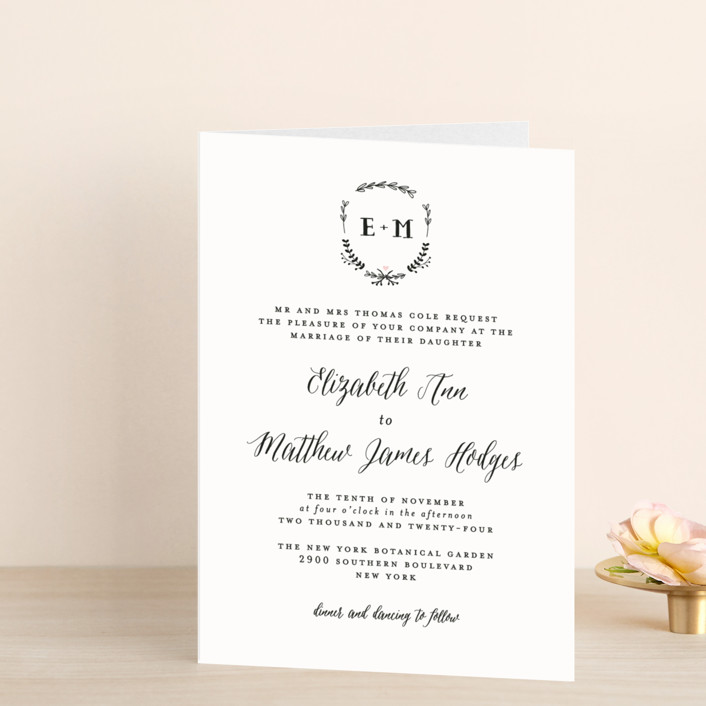 """""""Always"""" - Four-panel Wedding Invitations in Blush by Susan Brown."""