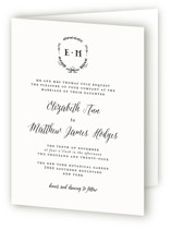 Always Four-Panel Wedding Invitations