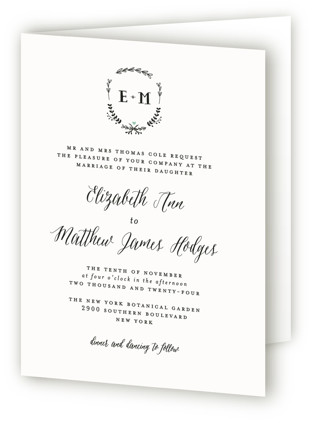 Always Four-Panel Wedding Invitations