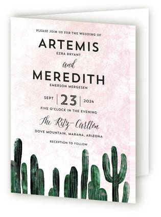 Cacti Four-Panel Wedding Invitations