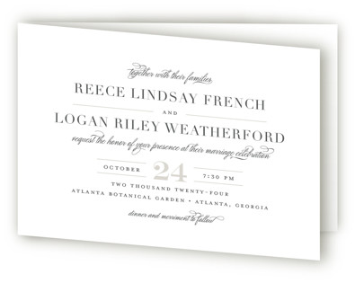 Classical Four-Panel Wedding Invitations