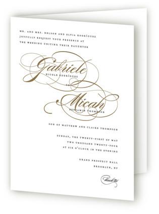 Flourish Four-Panel Wedding Invitations