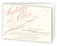 Winter Flourish Four-Panel Wedding Invitations